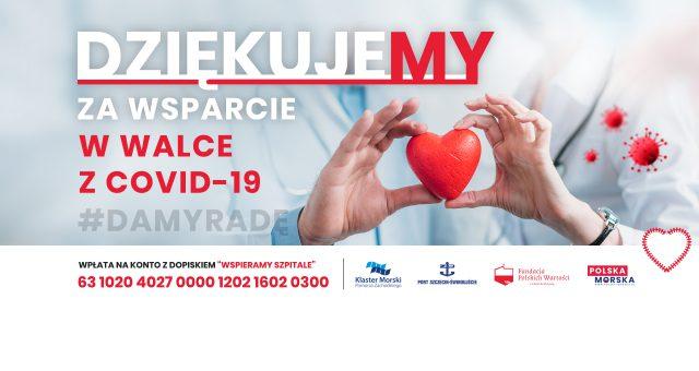 Kolejna wpłata oraz pomoc w ramach akcji Wspieramy Szpitale od firmy Fairplay Towage Polska Sp. z o.o. Sp.k.