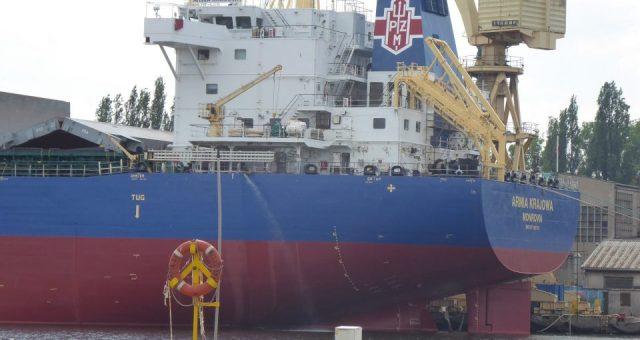 """""""Armia Krajowa"""" pomalowana na niebiesko. W przyszłości także inne statki PŻM zmienią kolor z czarnego na niebieski"""